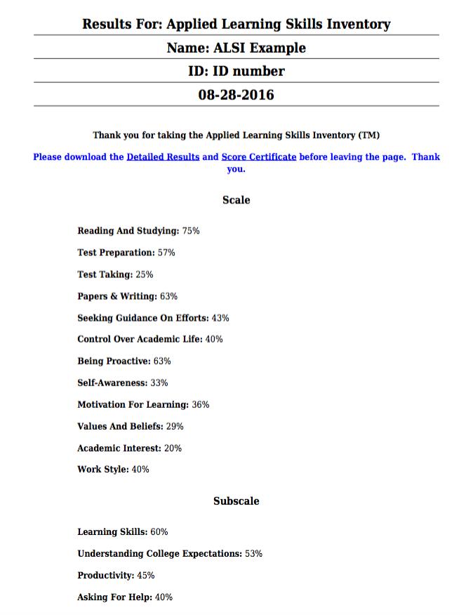 Score certificate PDF